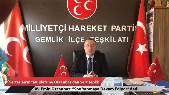 """Sertaslan'ın """"Müjde""""sine, Özcanbaz'dan Sert Tepki!"""